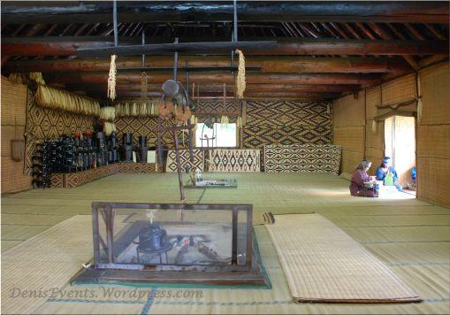 Inside an Ainu's house in Shiraoi, Hokkaido